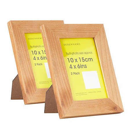 Home Collection Basics - Pack of two wooden 10 x 15cm photo frames