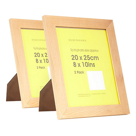 Home Collection Basics - Pack of two wooden 8x10 photo frames