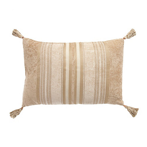 Home Collection - Natural +Stewart+ chenille stripe cushion
