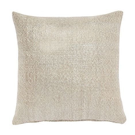 Betty Jackson.Black - Natural metallic woven cushion