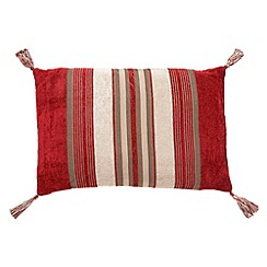 Home Collection - Red 'Stewart' striped cushion