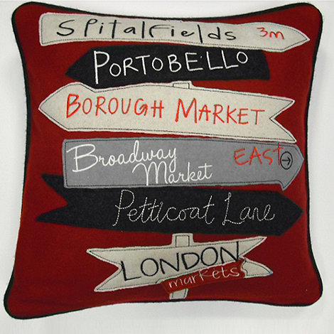 Ben de Lisi Home - Red London markets cushion