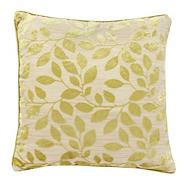 Green burnout leaf cushion