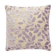 Lilac burnout leaf cushion