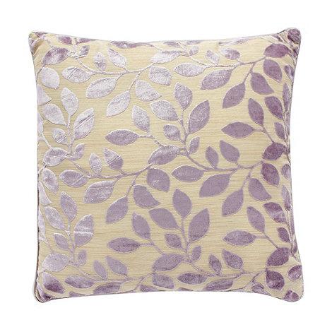 Debenhams - Lilac burnout leaf cushion