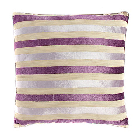 Debenhams - Purple striped cushion