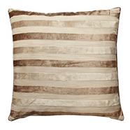 Taupe striped cushion