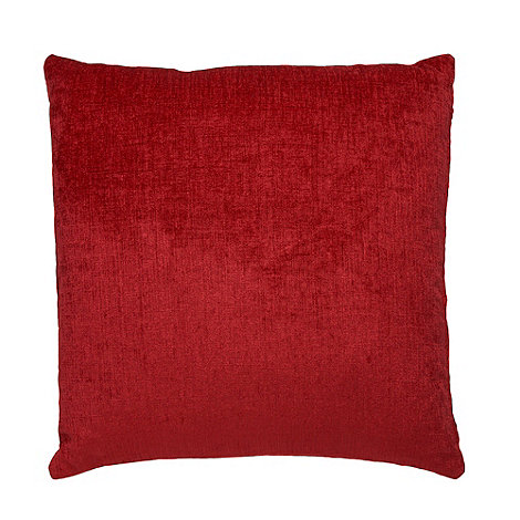 Home Collection - Red large chenille cushion