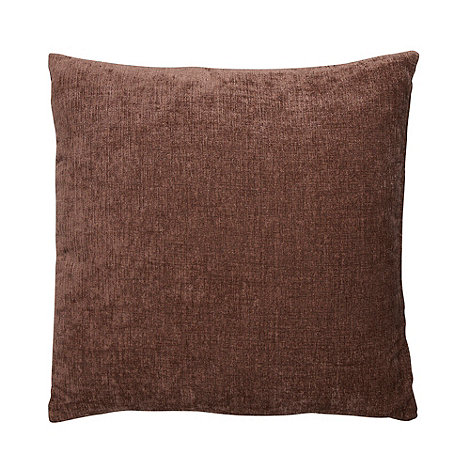Home Collection - Brown large chenille cushion