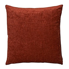 Home Collection - Terracotta large chenille cushion
