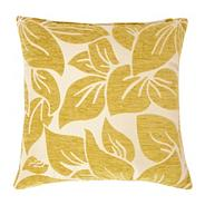 Green large textured leaf cushion