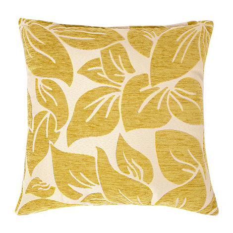 Home Collection - Green large textured leaf cushion