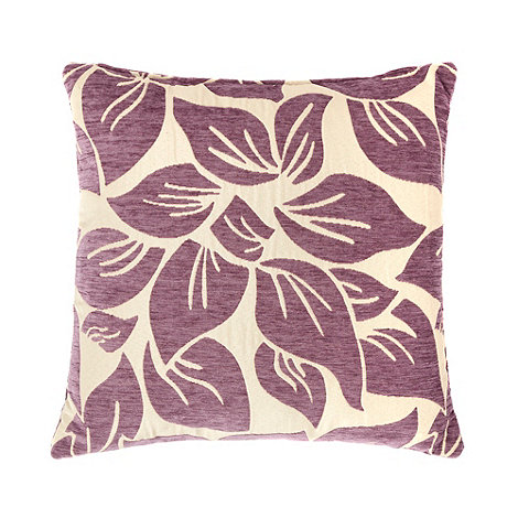 Home Collection - Purple large textured leaf cushion