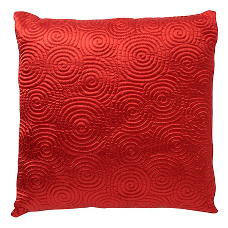 Home Collection Basics - Red satin spiral cushion