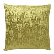 Green satin spiral cushion