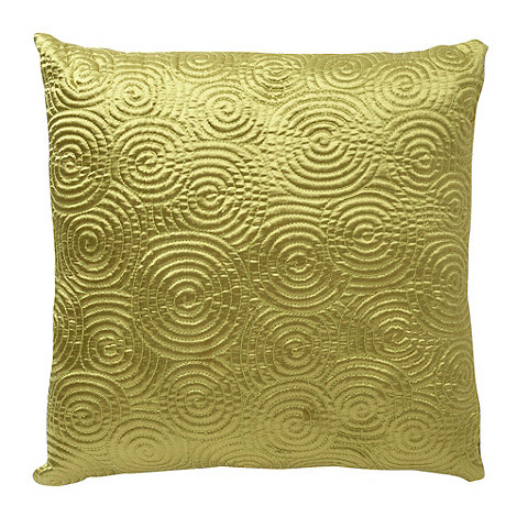 Home Collection Basics - Green satin spiral cushion