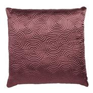 Mauve spiral stitched cushion