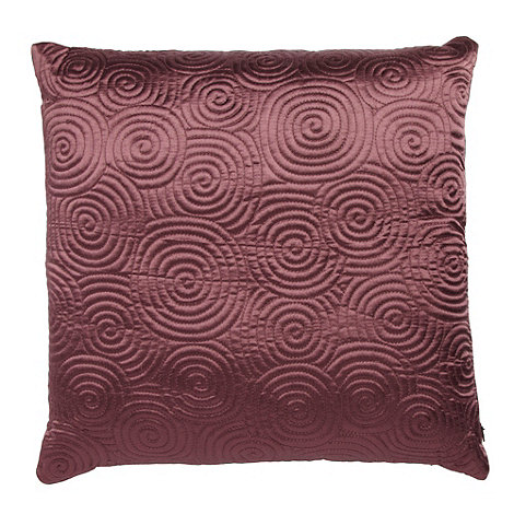 Home Collection Basics - Mauve spiral stitched cushion