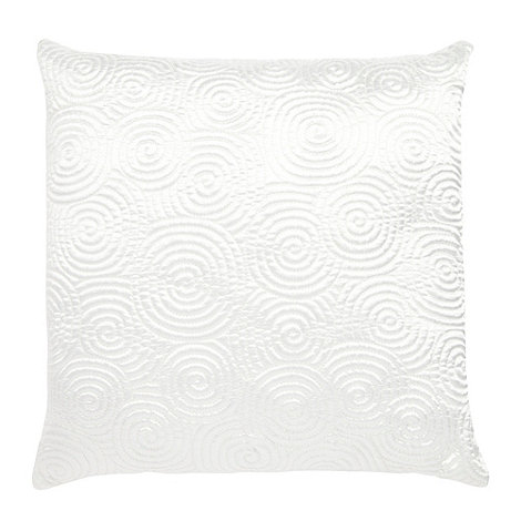 Home Collection Basics - Cream spiral stitched cushion