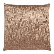 Beige spiral stitched cushion