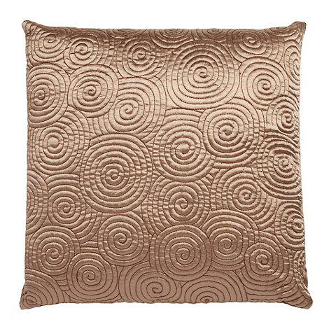 Home Collection Basics - Beige spiral stitched cushion