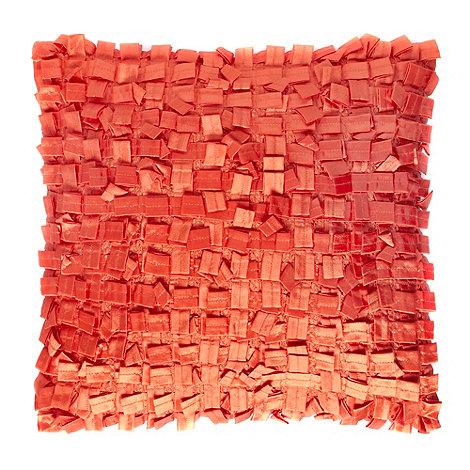 Debenhams - Orange +Lazada+ taffeta cushion