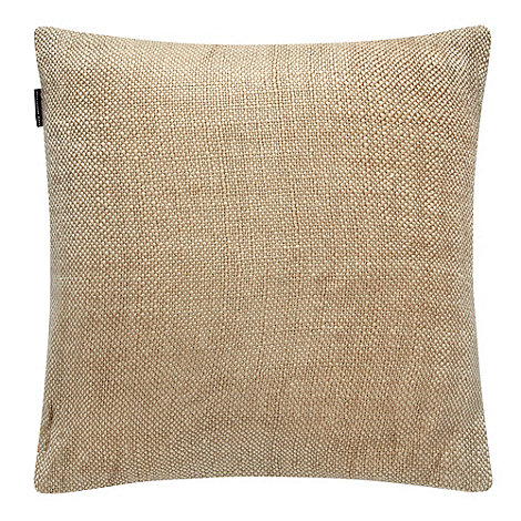 Betty Jackson.Black - Gold metallic woven cushion