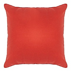 Home Collection Basics - Orange cotton square cushion
