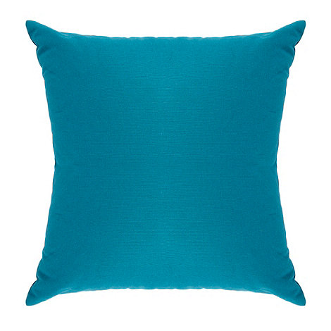 Home Collection Basics - Turquoise cotton square cushion