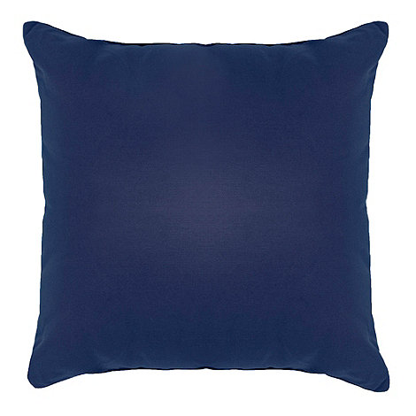 Home Collection Basics - Navy cotton square cushion