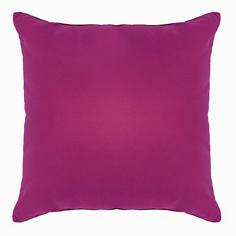 Home Collection Basics - Plum cotton square cushion