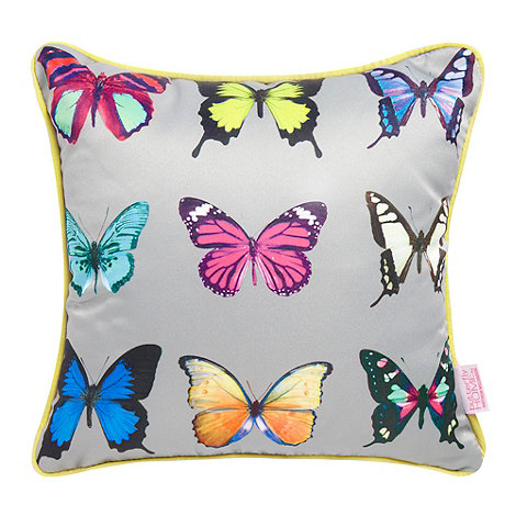 Butterfly Home by Matthew Williamson - Turquoise butterfly printed cushion