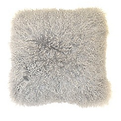 RJR.John Rocha - Grey 'Mongolian' cushion