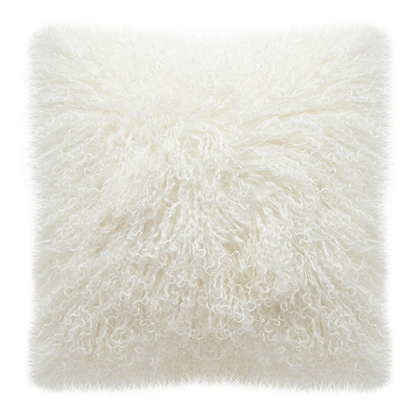 RJR.John Rocha - Cream sheepskin cushion
