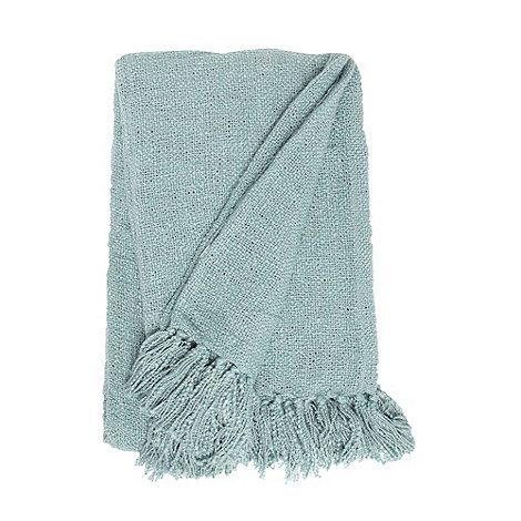 Home Collection - Aqua textured throw