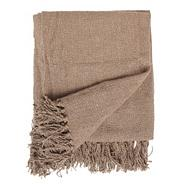 Light brown textured throw