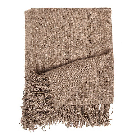 Home Collection - Light brown textured throw