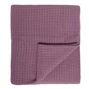 Mauve ribbed throw
