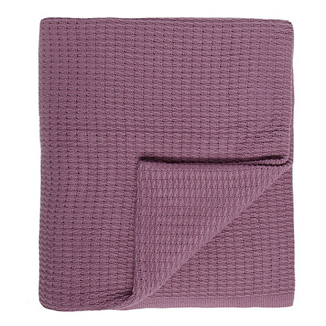 Home Collection - Mauve ribbed throw
