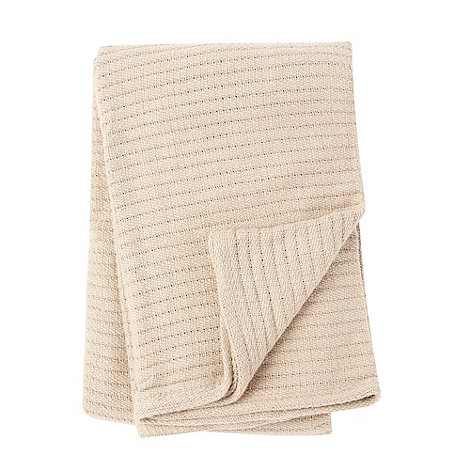 Home Collection - Natural ribbed throw