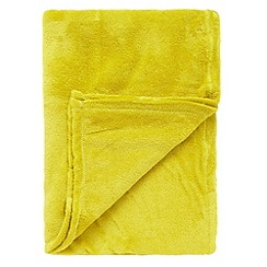 Home Collection Basics - Green fleece throw