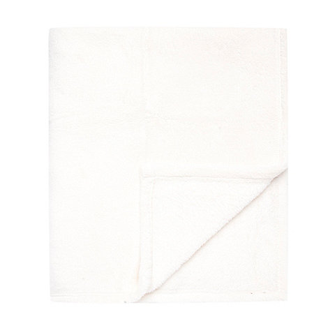 Home Collection Basics - Cream fleece throw