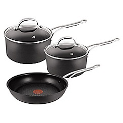 Jamie Oliver - Hard anodised aluminium 3 piece cookware set