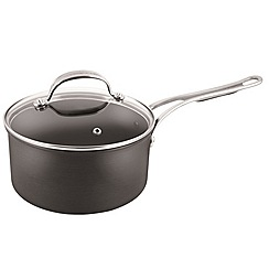 Jamie Oliver - By Tefal Hard Anodised professional series saucepan with glass lid 18cm