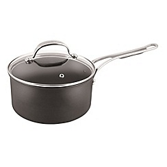 Jamie Oliver - By Tefal Hard Anodised professional series saucepan with glass lid 20cm