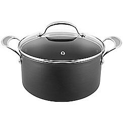 Jamie Oliver - By Tefal Hard Anodised professional series stewpot with glass lid 24cm
