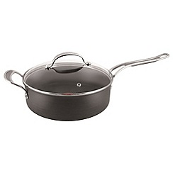 Jamie Oliver - By Tefal Hard Anodised 30cm Shallow Pan with Glass Lid