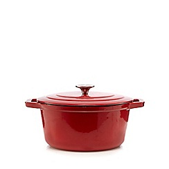Home Collection - Red 24cm casserole dish