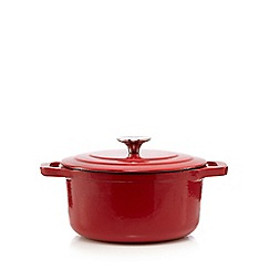 Home Collection - Red 20cm cast iron casserole dish