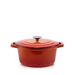 Home Collection - Orange 24cm cast iron casserole dish